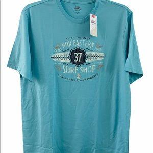 IZOD Surf Shop Surfboard T-Shirt NWT